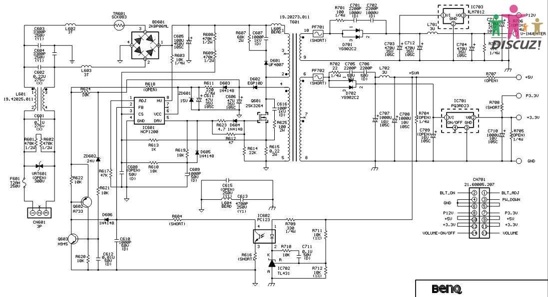 各位前辈明基fp71g的q7t4型lcd显示器不亮