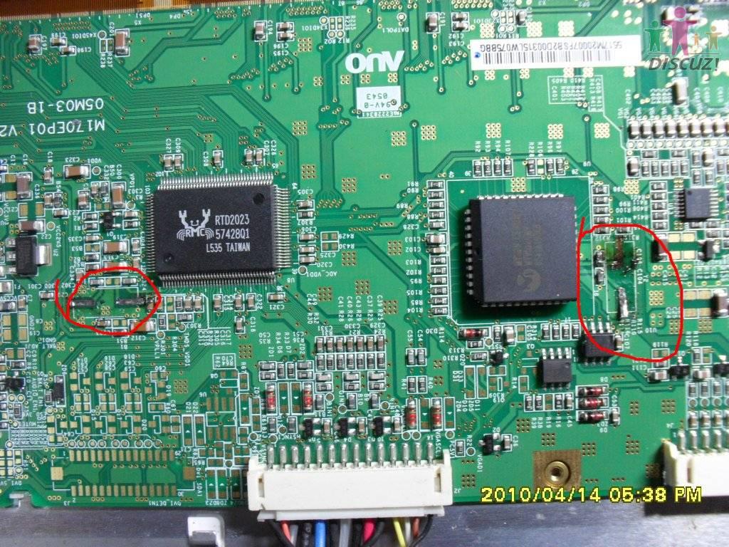 明基q7t4液晶显示器驱动板晶振