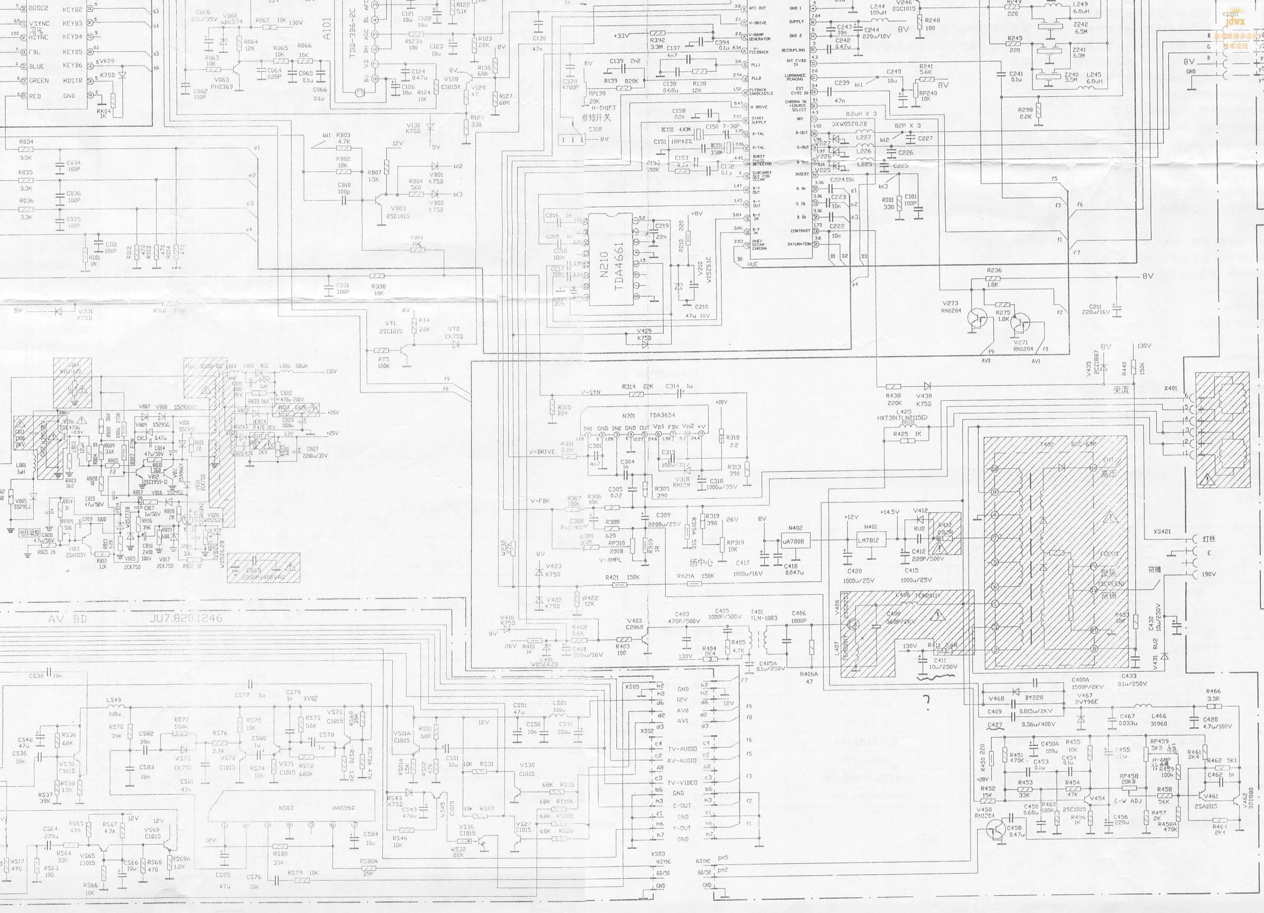 长虹pf2118电路原理图