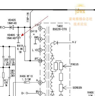 康佳t21sa326(76931)单片机无字符图像偏右且不存台的