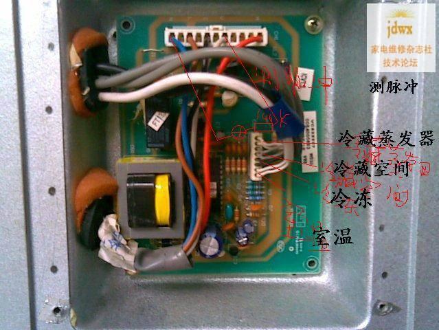 环境温度传感器首先感受环境温度,主控板根据环温来确定冰箱工作参数.