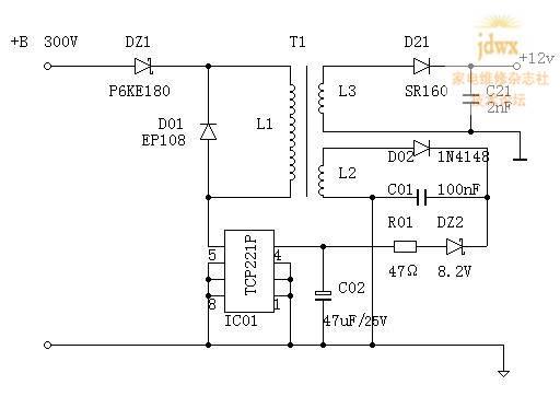 三菱电机空调控制板开关电源原理图.jpg