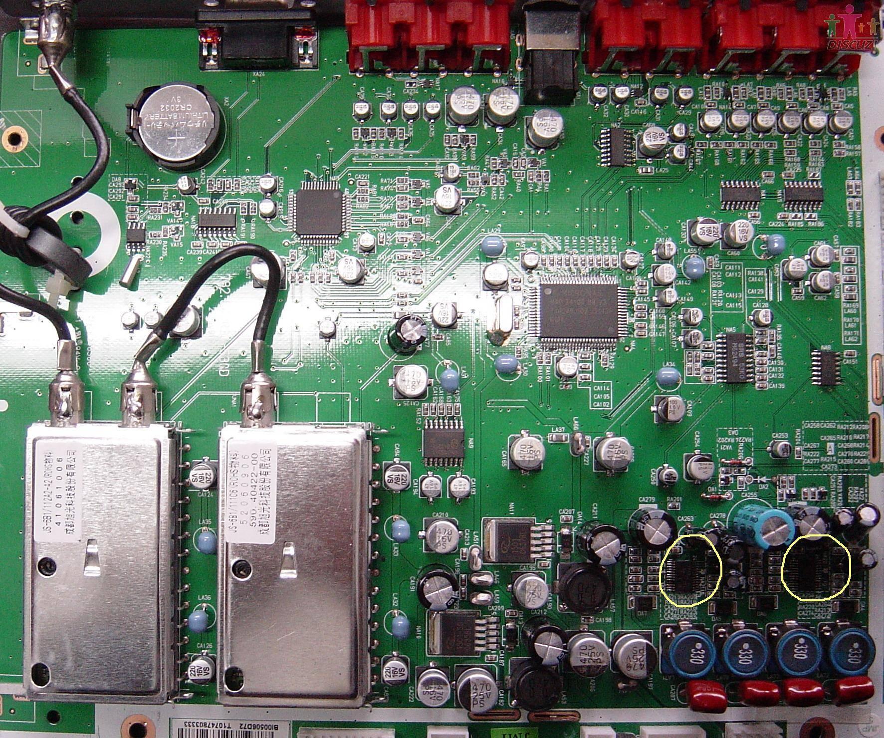 电视机ic板接线图