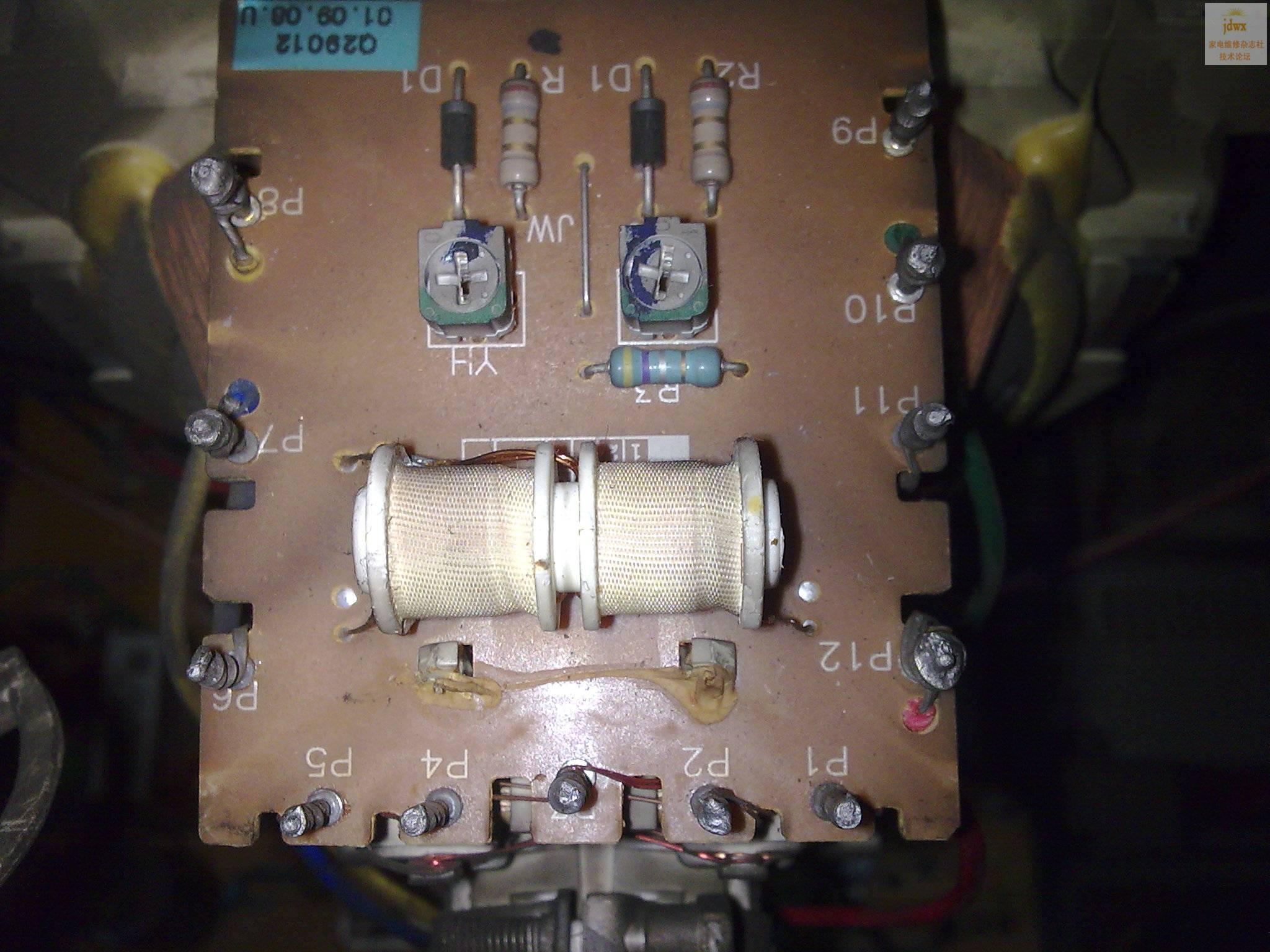29寸纯平双聚焦的电视,行偏转线圈并联的改串联的怎么改啊,此机受