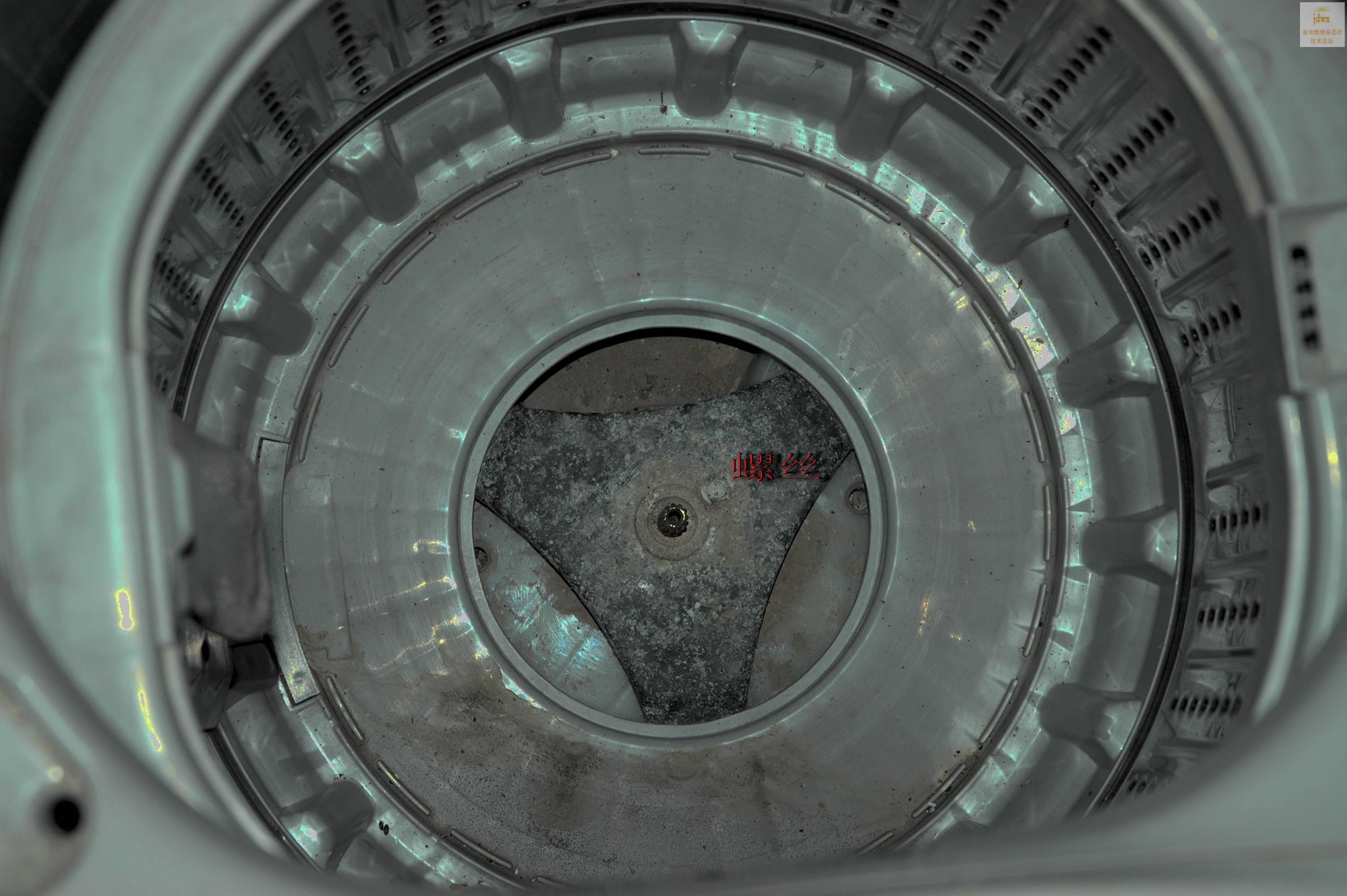 惠而浦wi4231s全自动洗衣机内桶拆卸方法