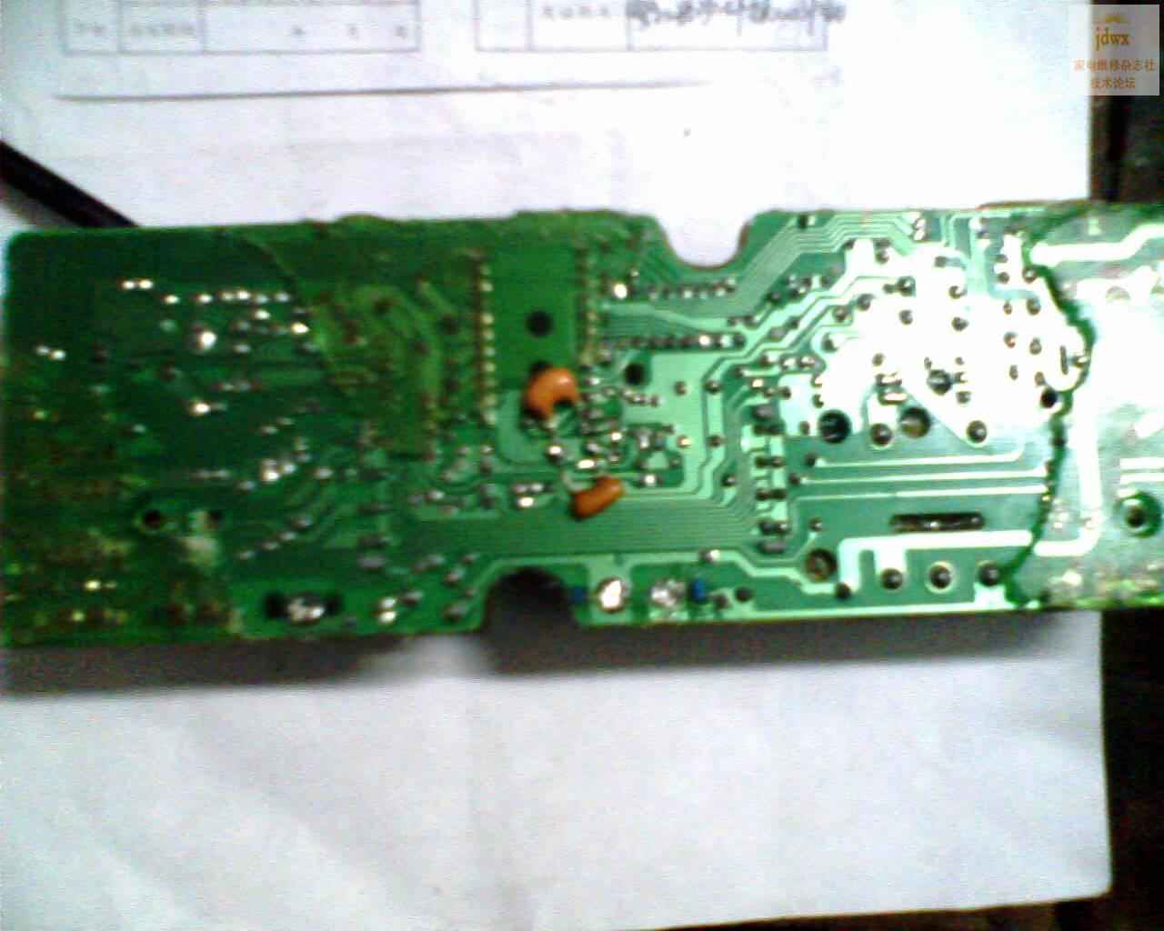 维修奇声全自动洗衣机电脑版的详细过程及三脚晶体用两脚晶体代换方法
