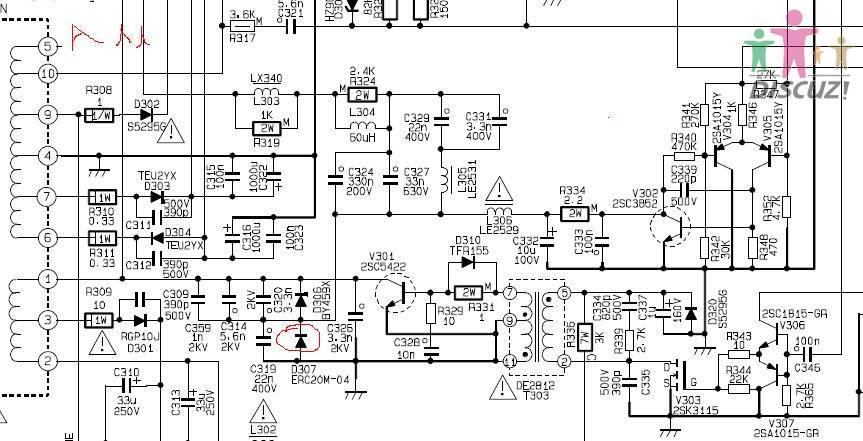 创维29t66aa枕形电路图