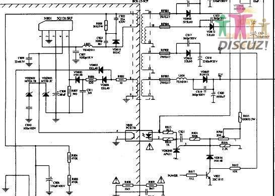 厦华lcd电源电路图