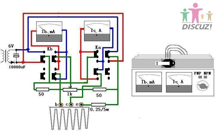 万用表管地电位测量接线图