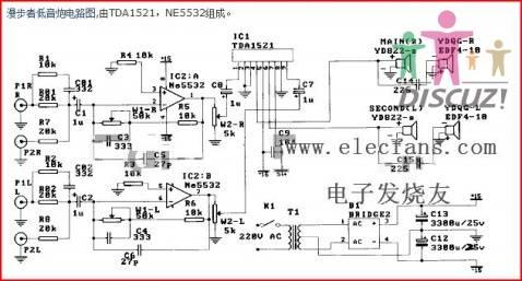 12v低音炮电路图
