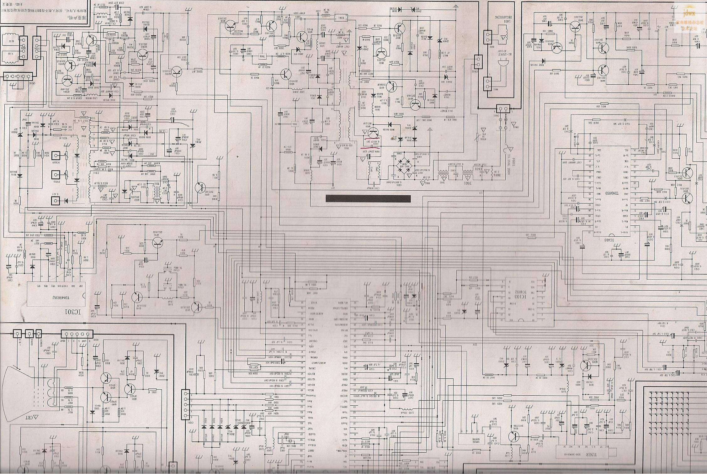 创维3p30/3p36/4p30/4p36机芯电源图纸