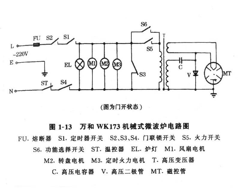 万和微波炉电路图