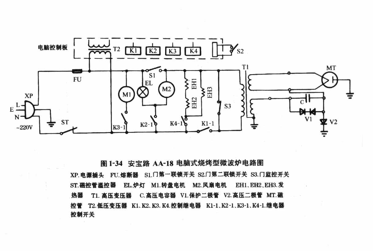 安宝路aa-18电脑式烧烤型微波炉电路图.jpg