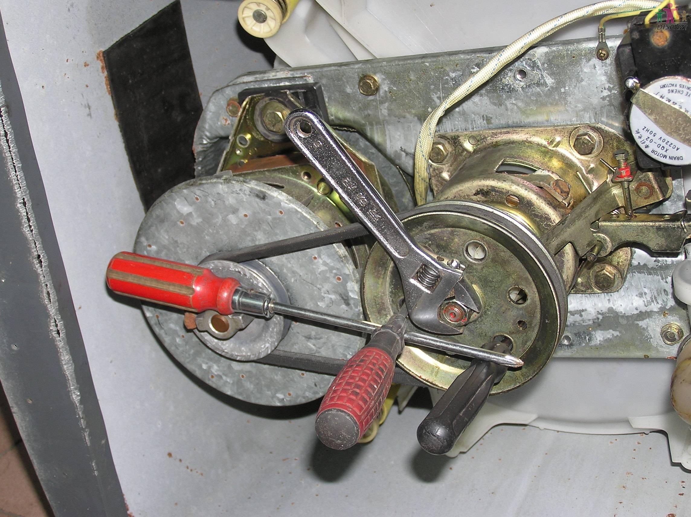 绝对的新手维修金羚xqb40-16b洗衣机脱水无力(全程上图)