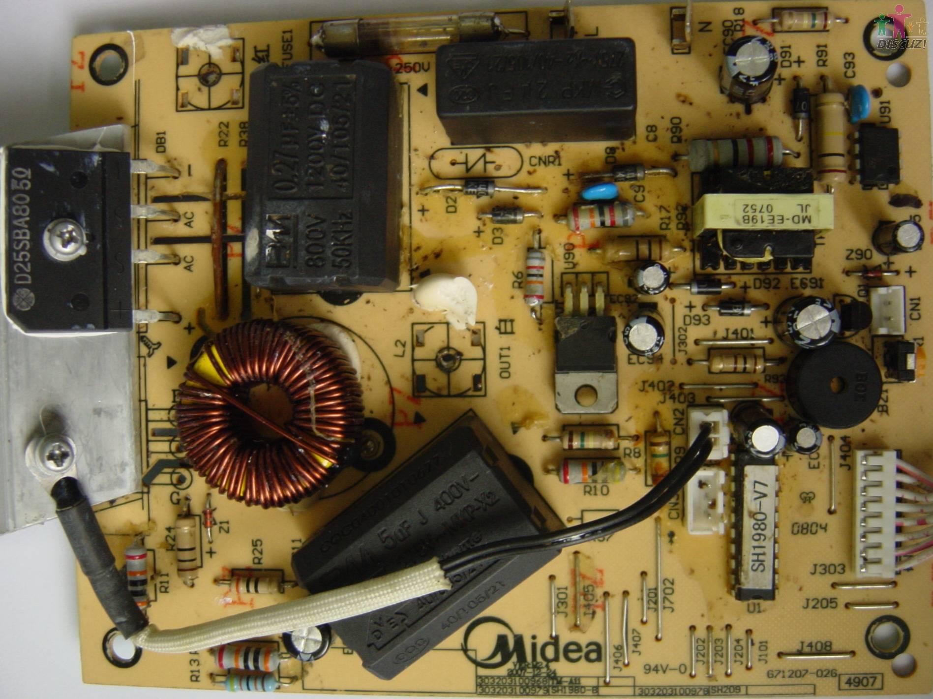 美的c19-sh1980电路图-家电-数据之家