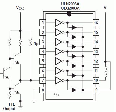 uln2803/uln2003--高压大电流达林顿晶体管阵列