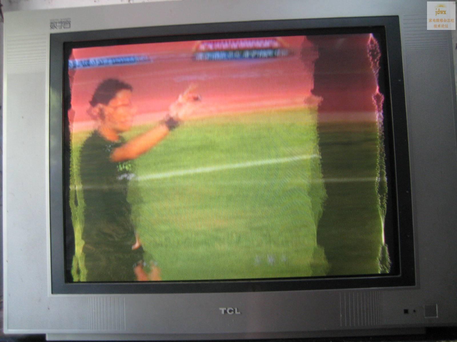 修一台tcl hid34189pb电视图像故障,如图所示,我检查了主电压,枕校管